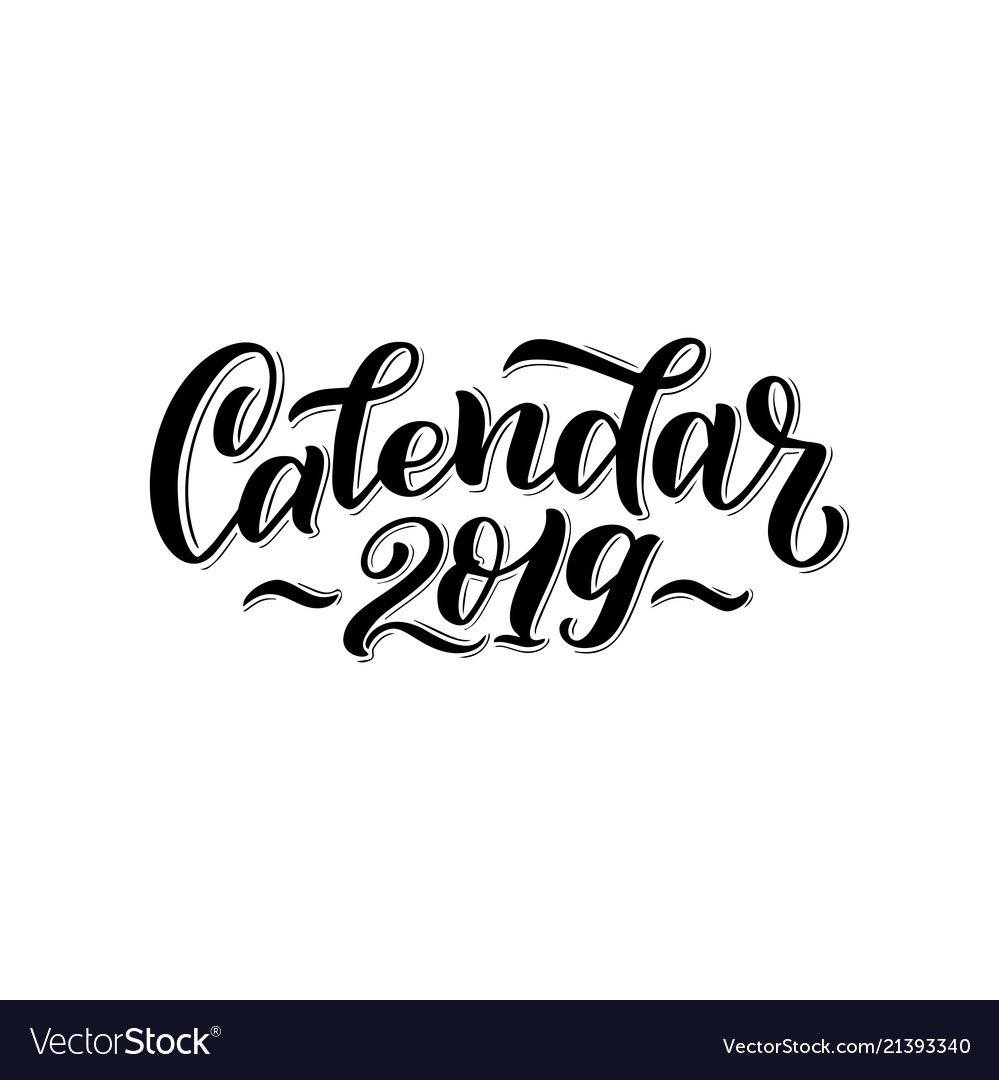 2019 Calendar Cover For Royalty Free Vector Image Calendar 2019 Cover