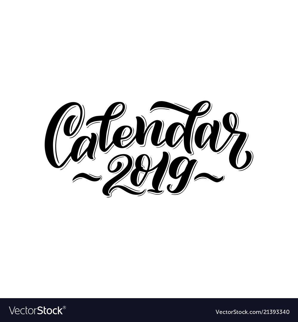 2019 Calendar Cover For Royalty Free Vector Image Calendar 2019 Logo