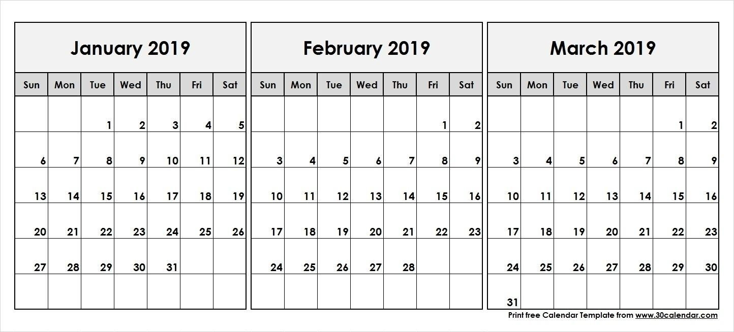 2019 Calendar Jan Feb March | Calendar Template | 555+ December Calendar 2019 Jan Feb Mar