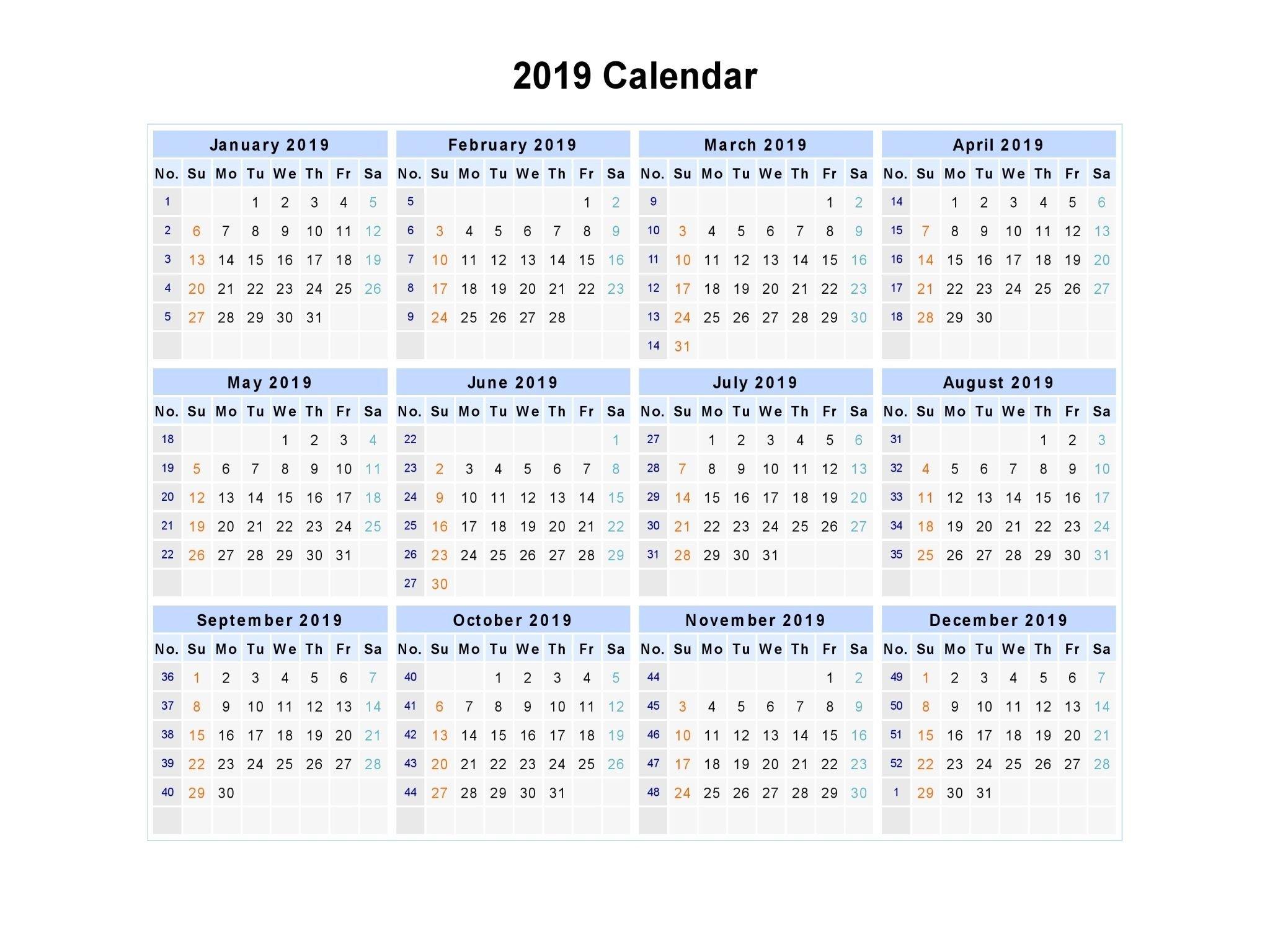 2019 Calendar Printable Australia #2019Calendar #holidayscalendar Calendar 2019 Excel Australia