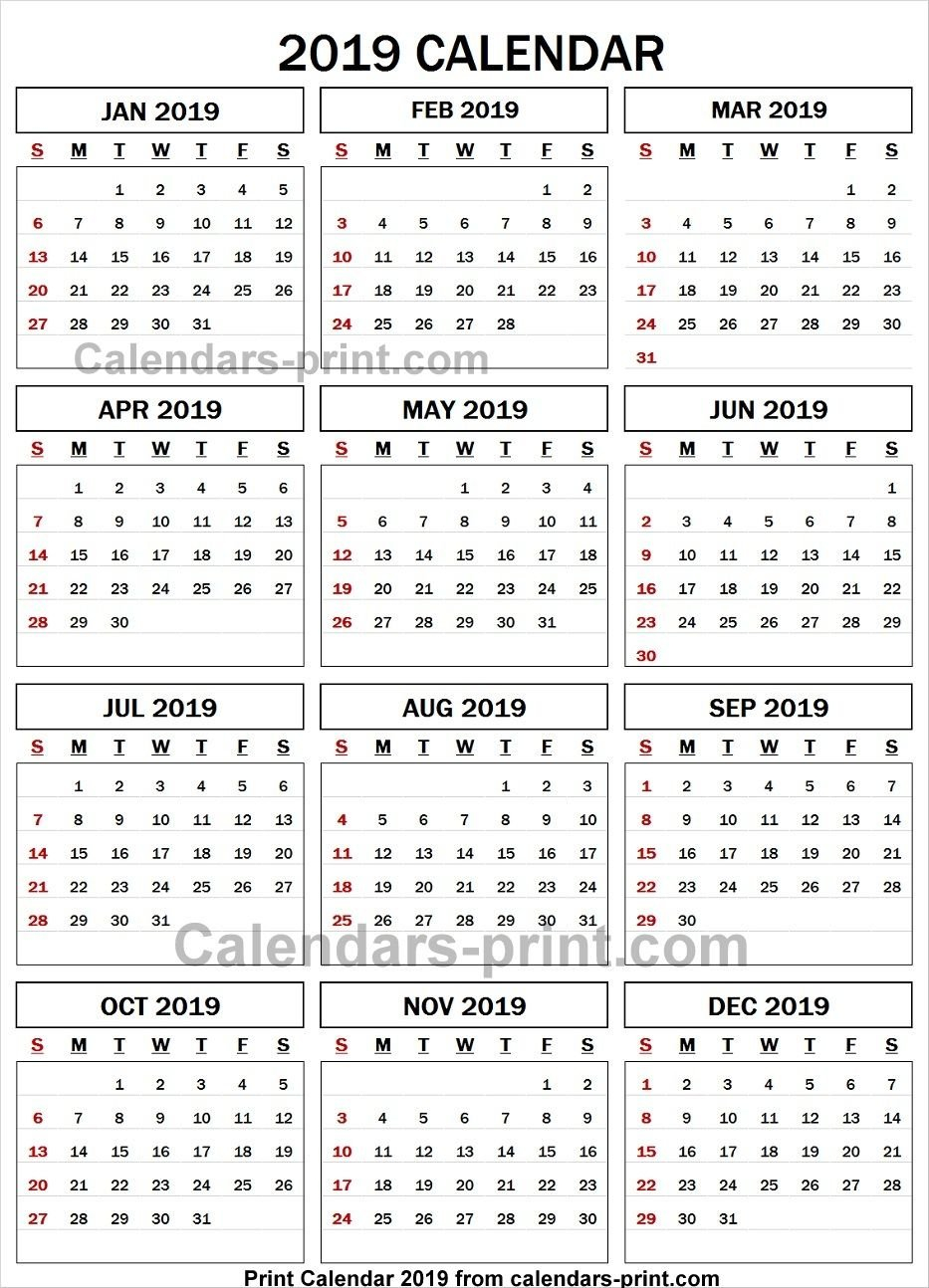 2019 Calendar Spreadsheet | 2019 Yearly Calendar | 2019 Calendar Calendar 2019 Spreadsheet