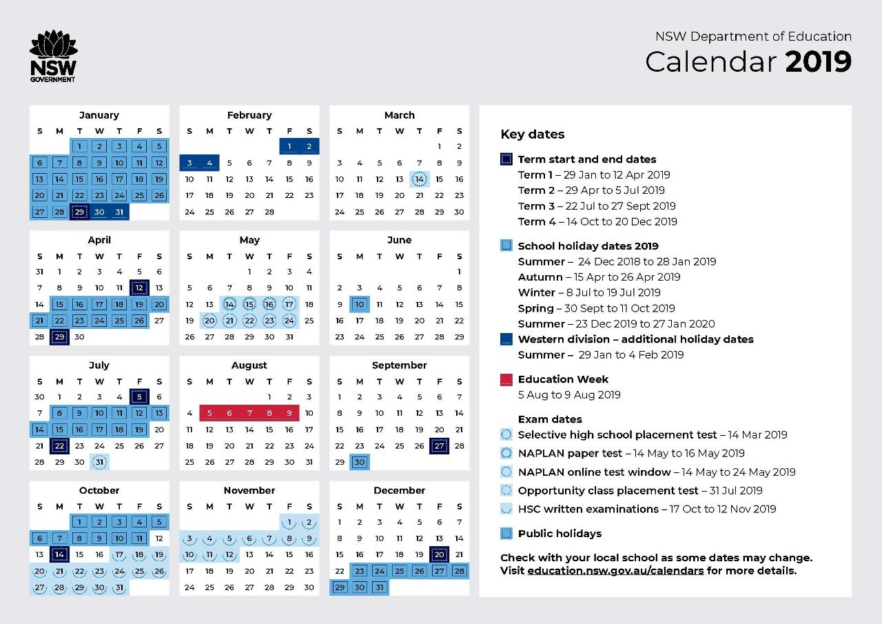 2019 Calendar - Toronto High School Calendar 2019 Doe