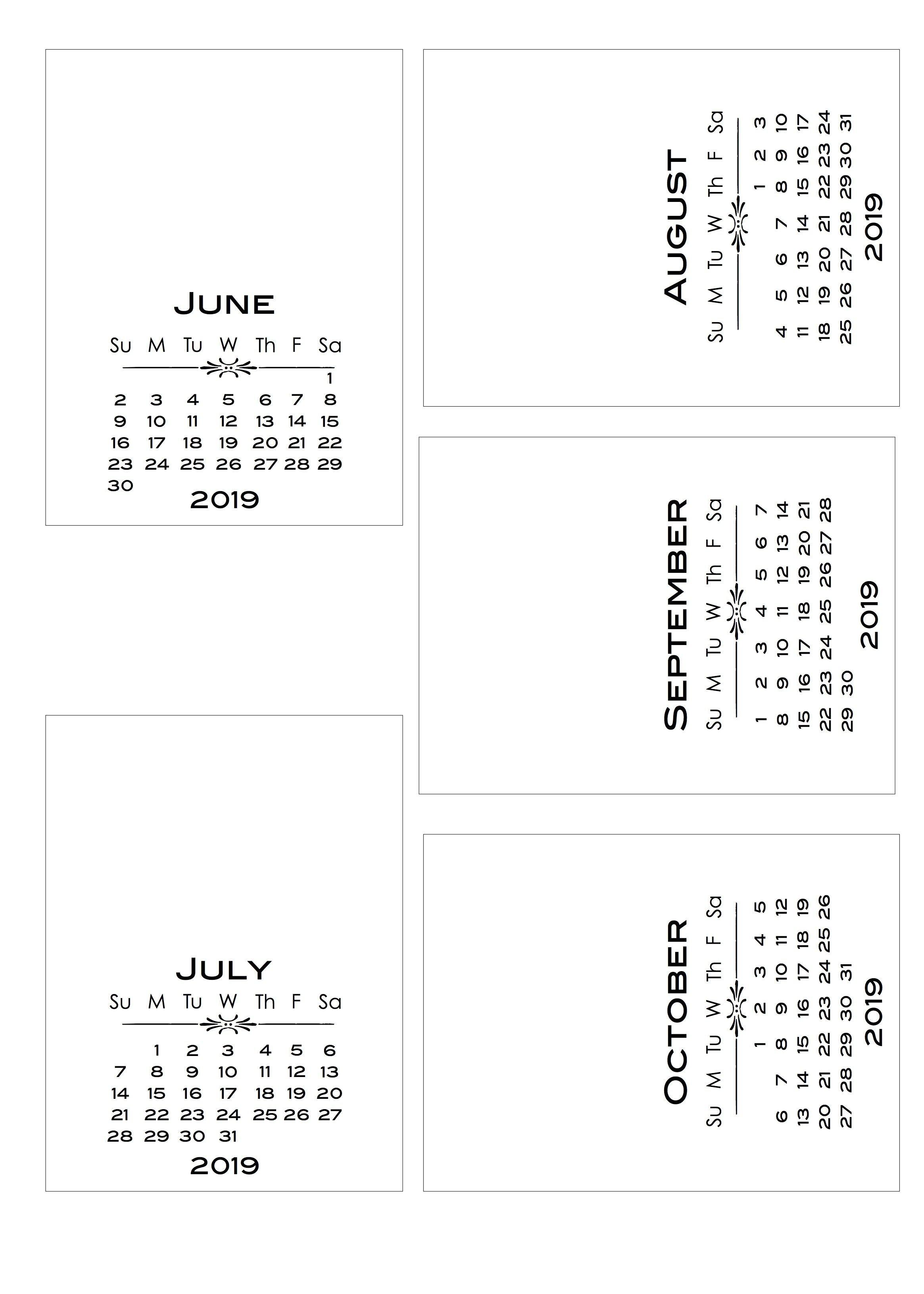 2019 Diy Calendar With Bold Text Pl-Style Cards | Calendar | Diy Calendar 2019 Diy