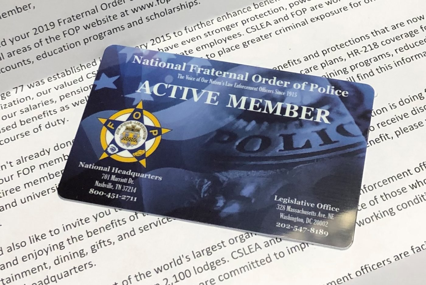 2019 Fop Membership Cards - California Statewide Law Enforcement Fop Lodge 7 Calendar 2019