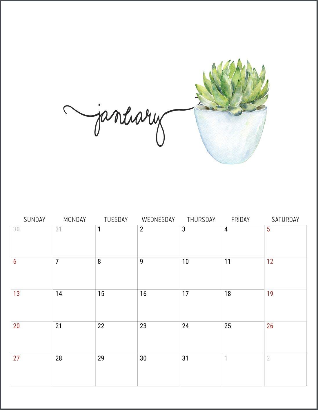 2019 Free Printable Calendars - Lolly Jane Calendar 2019 Free