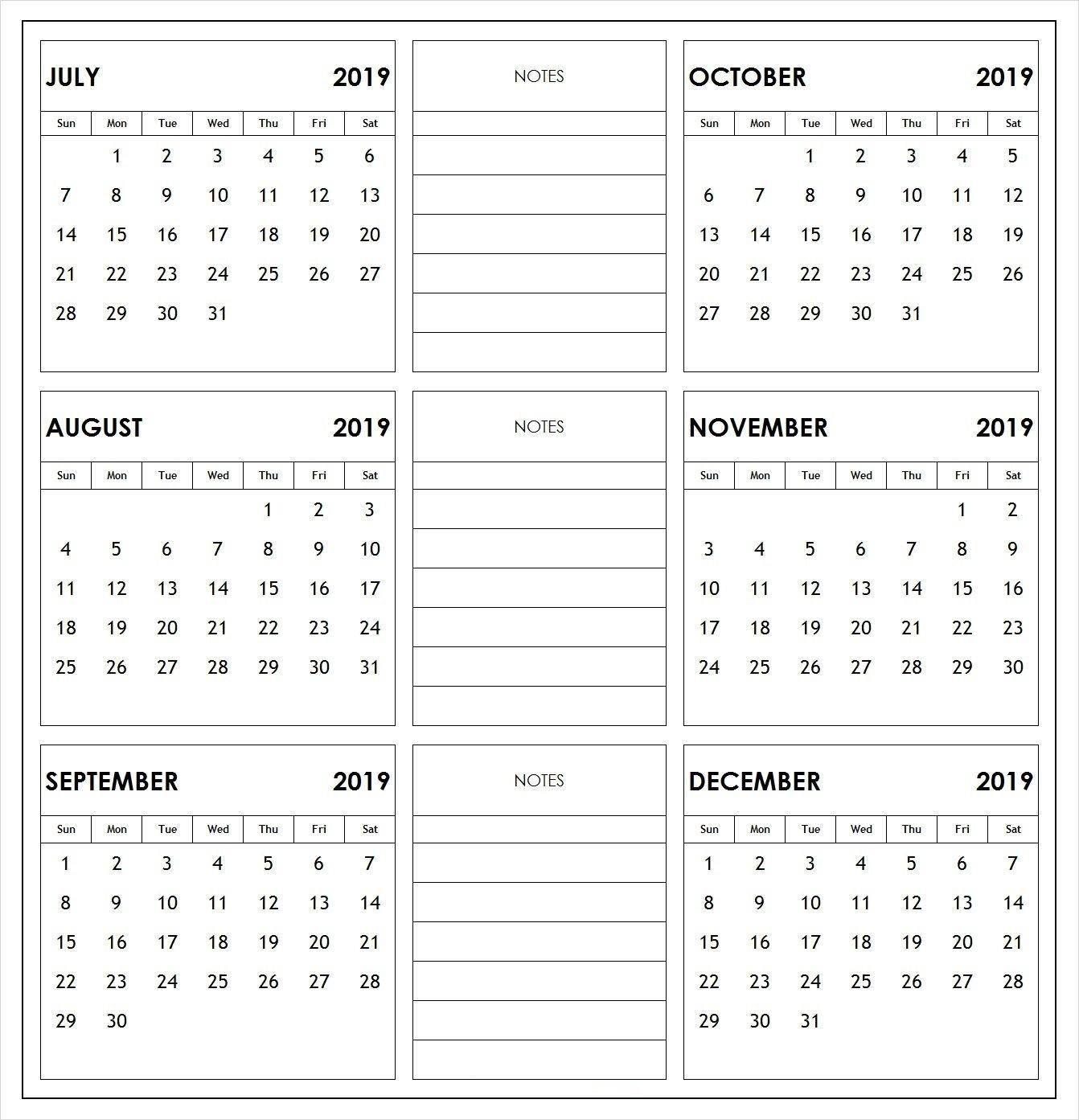 2019 Half Year Print Calendar   2019 Calendars   Academic Calendar 6 Month Calendar 2019