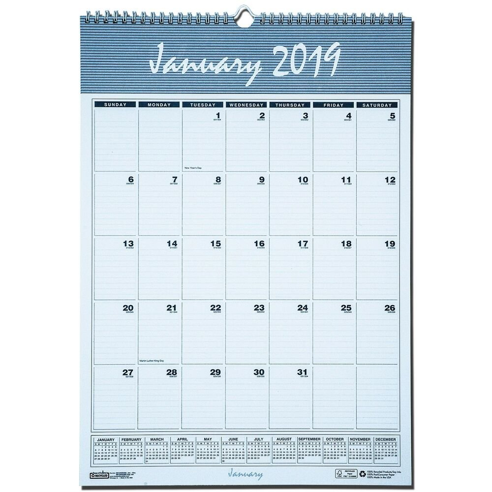 "2019 House Of Doolittle 332 Hod332 Bar Harbor Wall Calendar, 12 X 17""  40983303361 