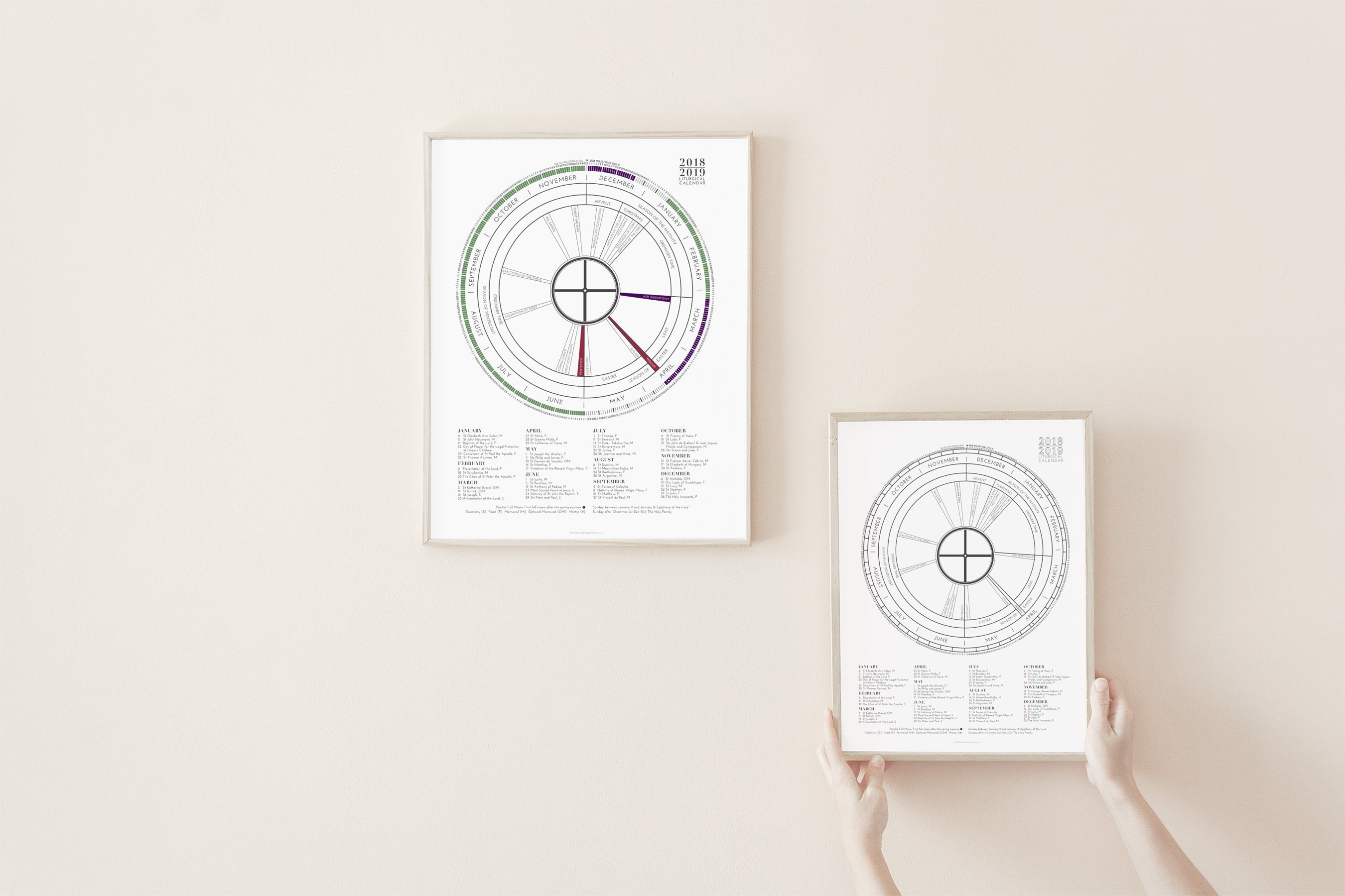 2019 Liturgical Calendar Bulk Pricing Gift For Baptism | Etsy Calendar 2019 Bulk