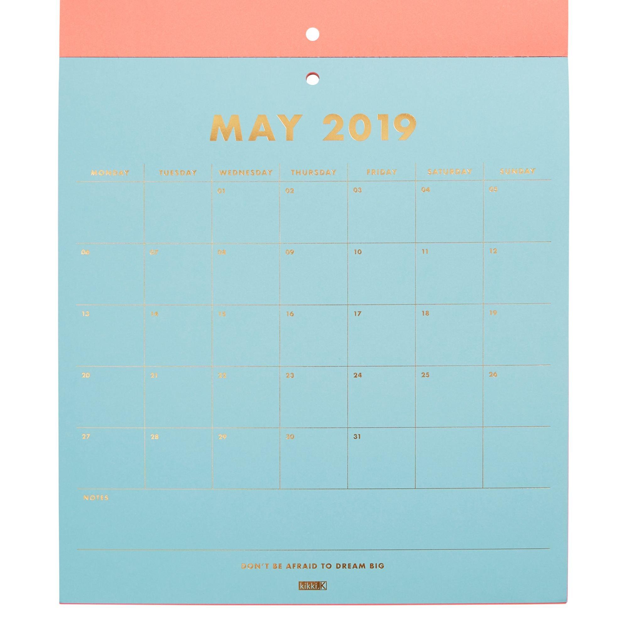 2019 Pad Calendar Neon | Organization | Calendar Pad, Calendar, 2019 Kikki K Desk Calendar 2019