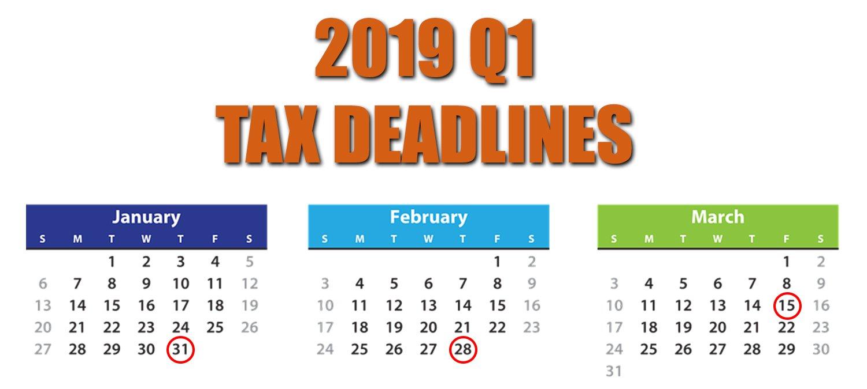 2019 Q1 Tax Calendar - Squar Milner Calendar Q1 2019