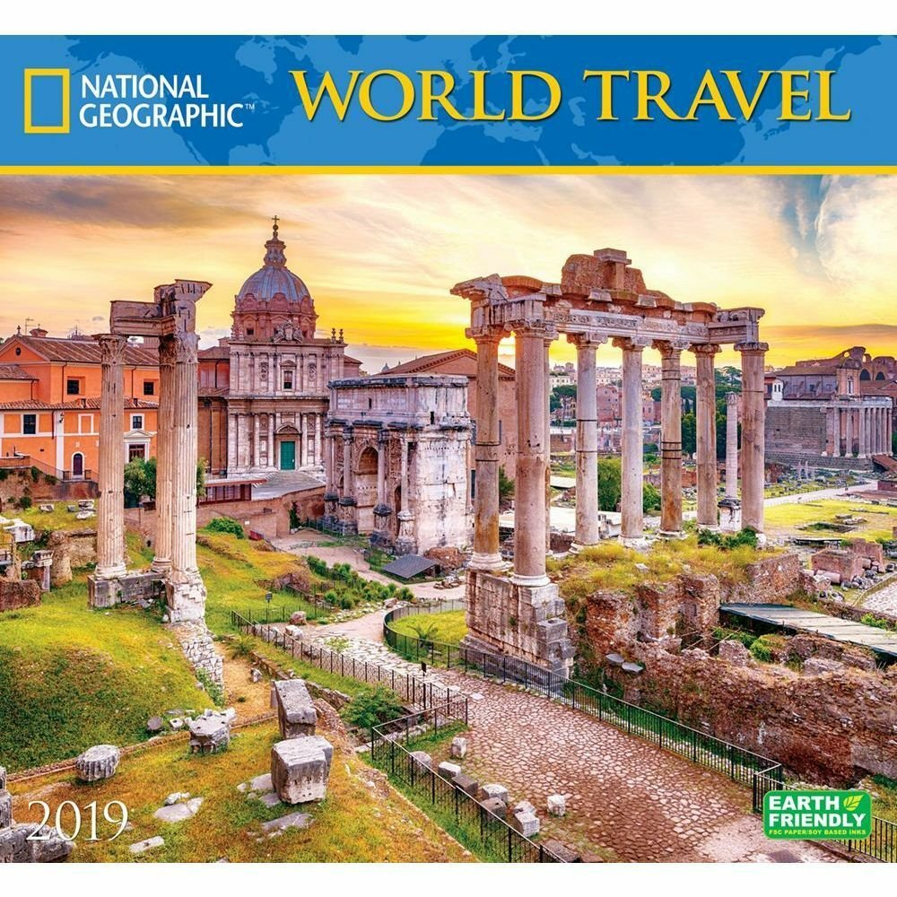 2019 World Travel Ng Wall Calendar,zebra Publishing Calendar 2019 Travel