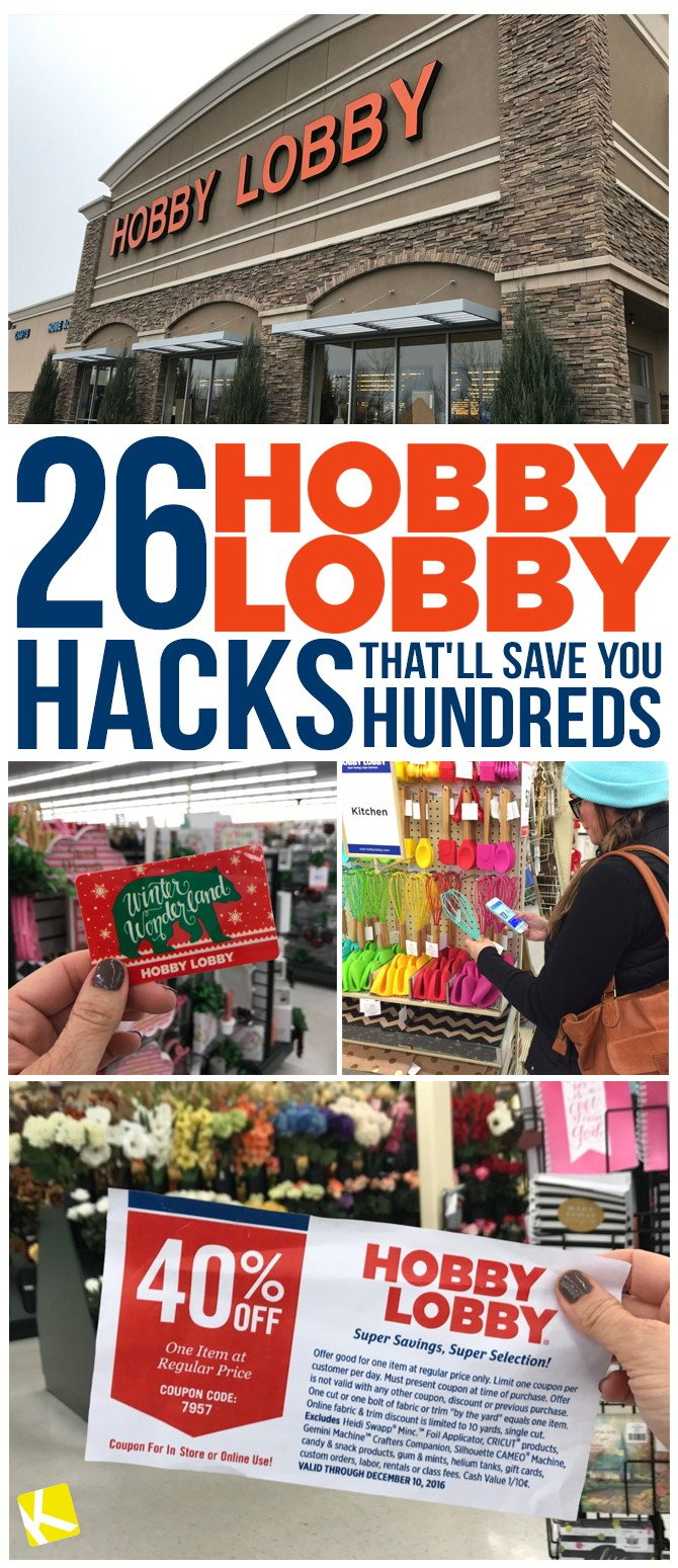 26 Hobby Lobby Hacks That'll Save You Hundreds - The Krazy Coupon Lady Calendar 2019 Hobby Lobby