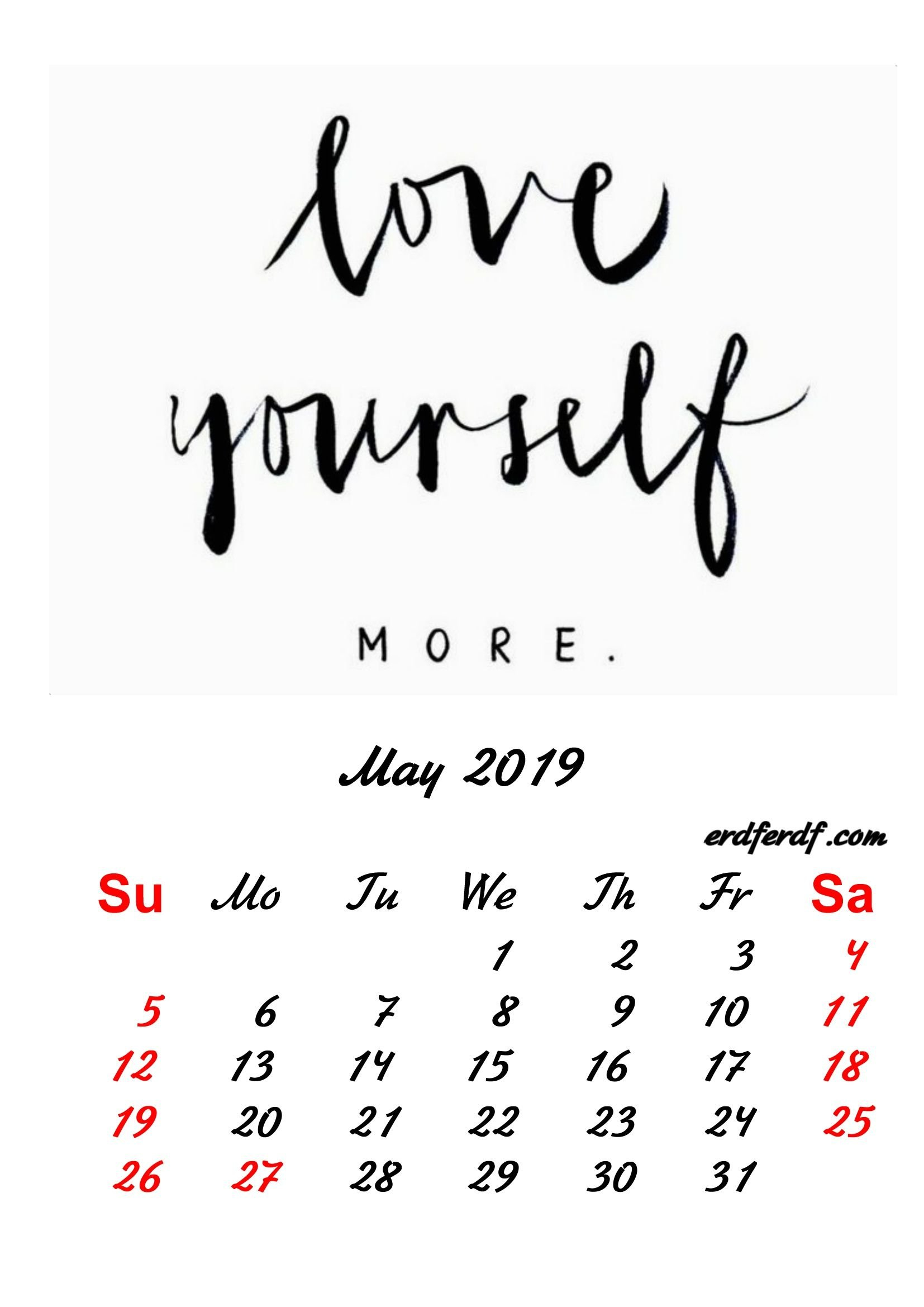 5 May 2019 Inspirational Quotes Pprintable Calendar | Monthly Calendar May 5Th 2019