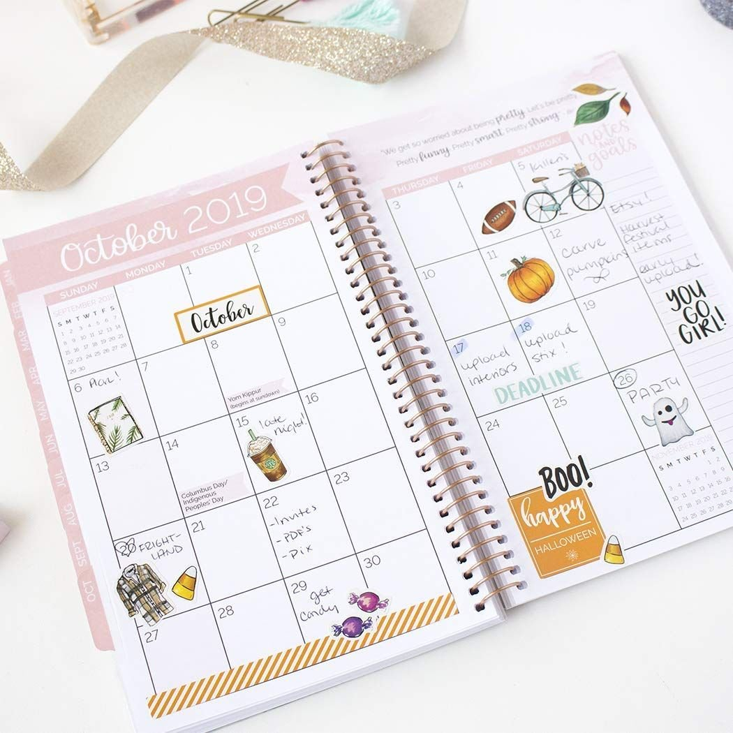 Amazon : Bloom Daily Planners 2019 Calendar Year Day Planner Calendar 2019 Amazon