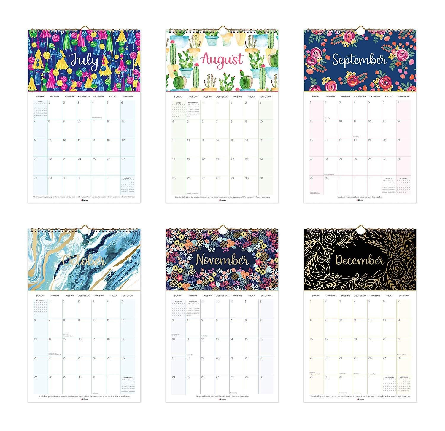 Amazon : Bloom Daily Planners 2019 Calendar Year Hanging Wall Calendar 2019 Amazon
