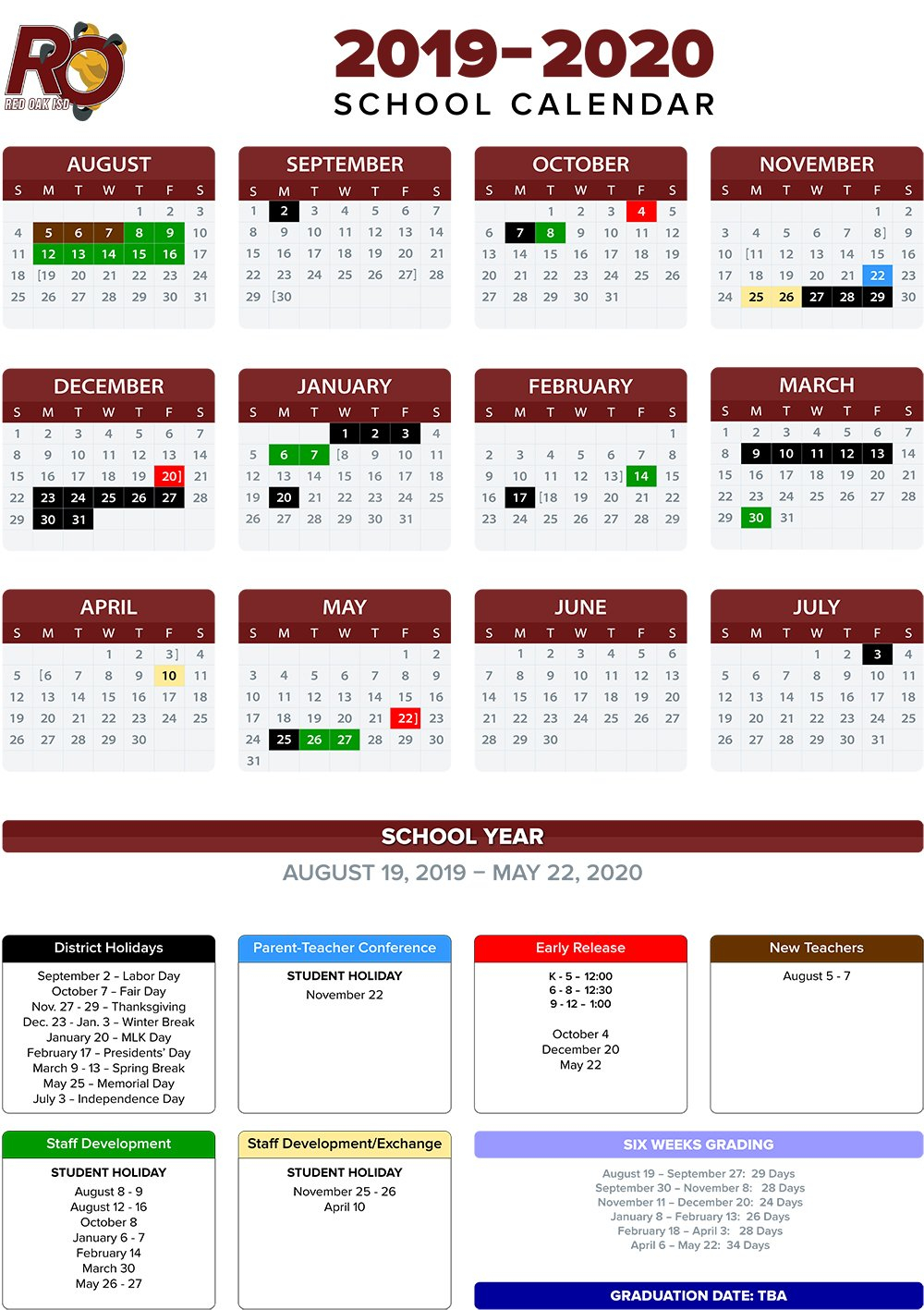 Annual School Calendar / 2019-20 Annual Calendars School District 2 Calendar 2019