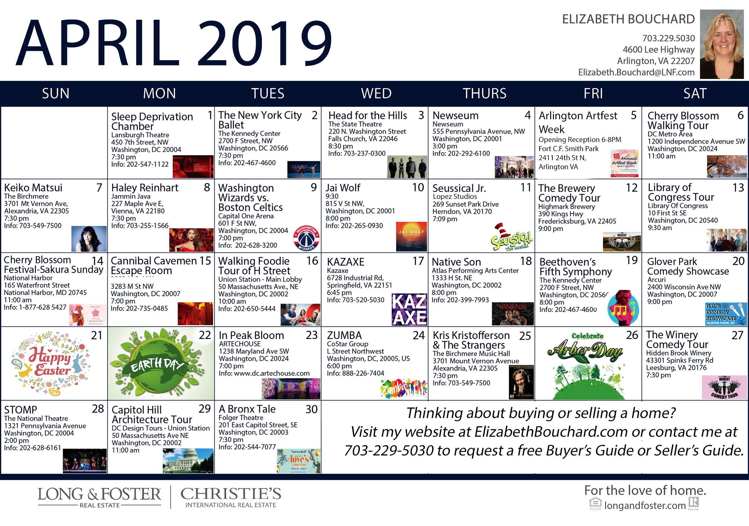 April 2019 Calendar Of Area Events - All Around Arlington 544 Calendar 2019