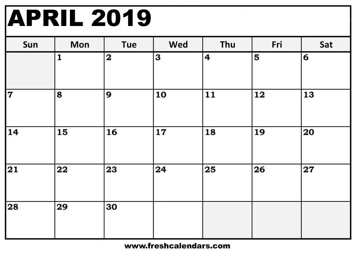 April 2019 Calendar Printable - Fresh Calendars Calendar 2019 April
