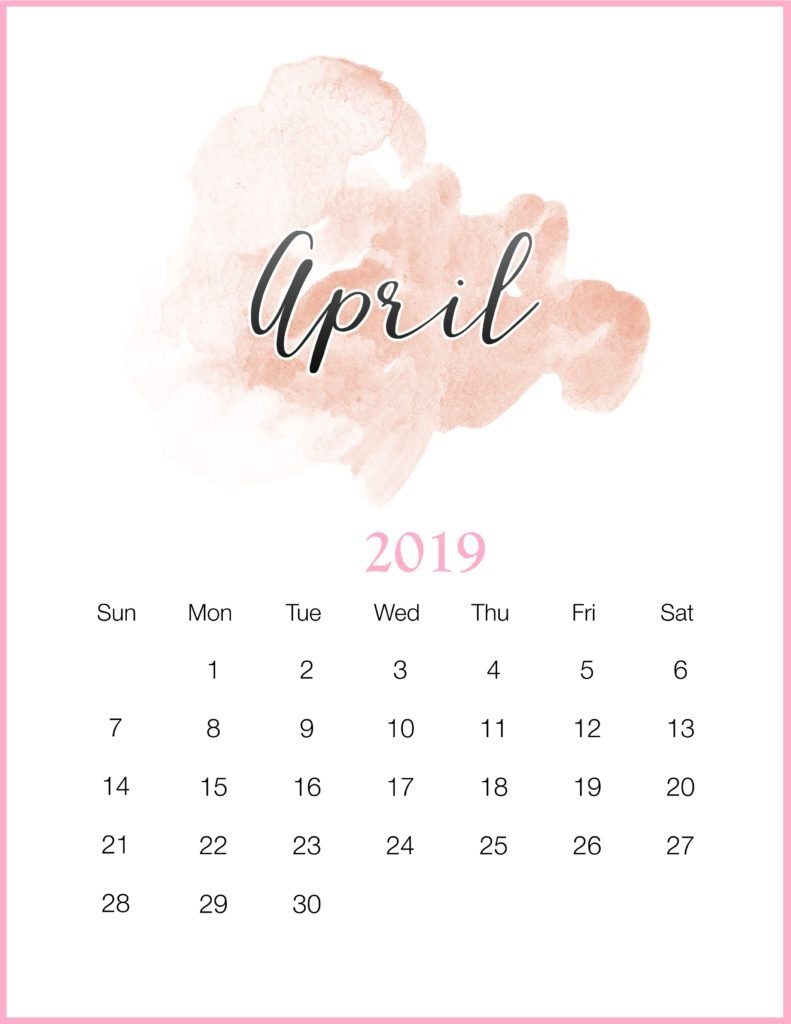 April 2019 Calendar Template - Free Printable Calendar, Templates April 1 2019 Calendar