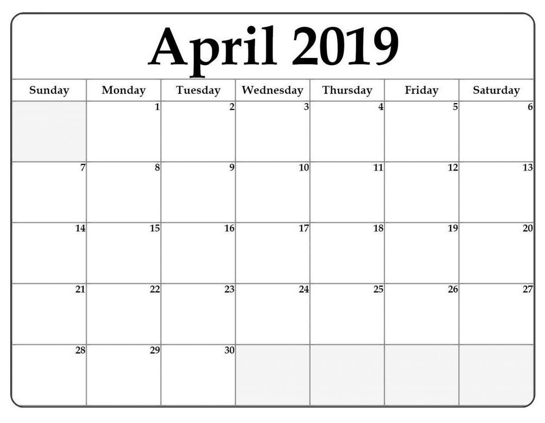 April 2019 Word Calendar Template | Monthly Templates | Monthly Calendar 2019 In Word