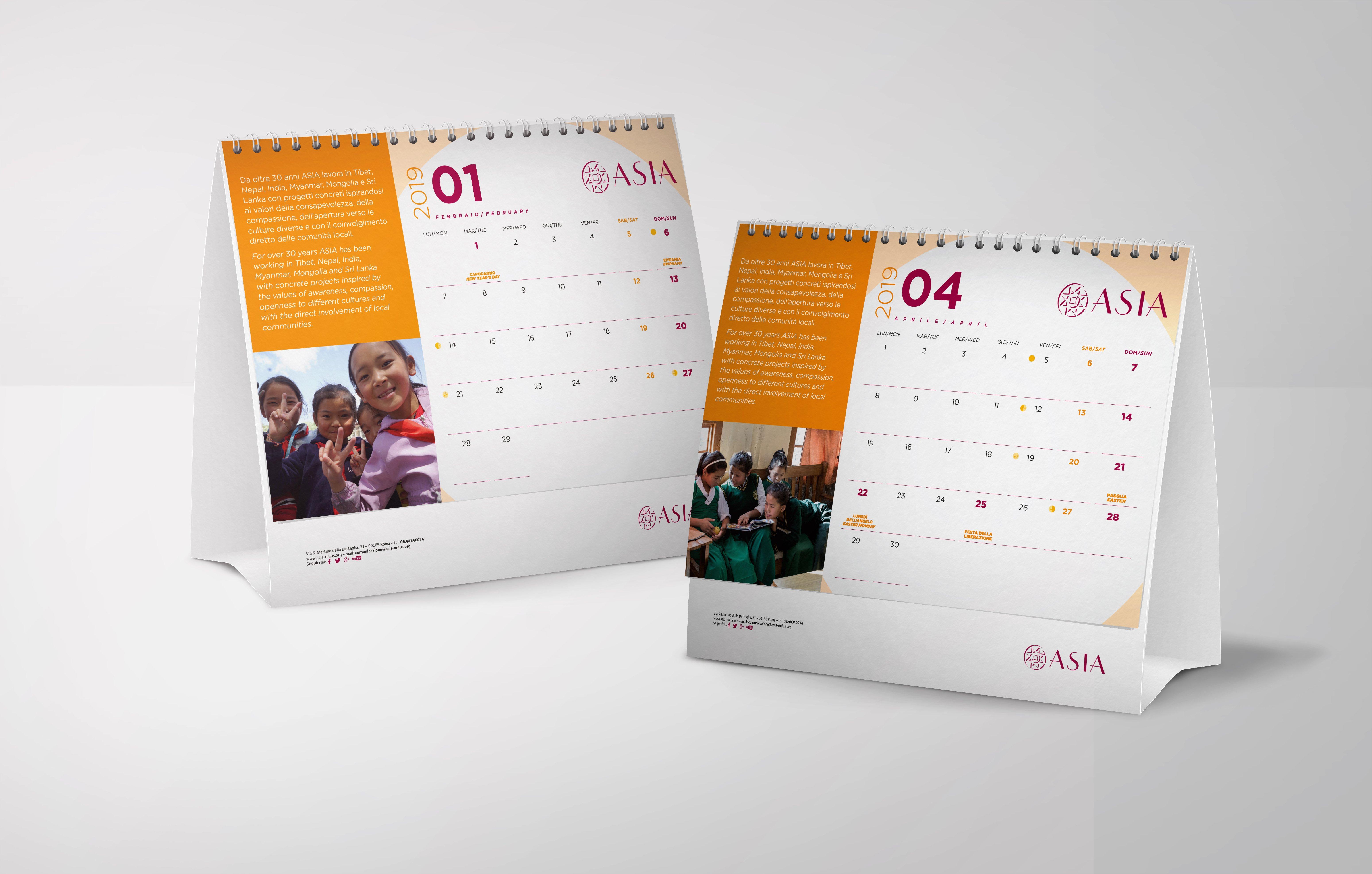 Asia Onlus | Table Calendar 2019 – Customizable Calendar 2019 Table