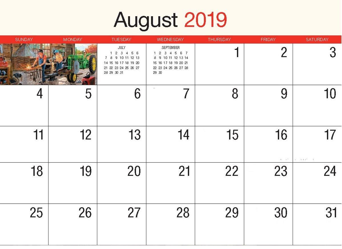 August 2019 Wall Calendar | Calendar 2018 | Printable Calendar August 9 2019 Calendar
