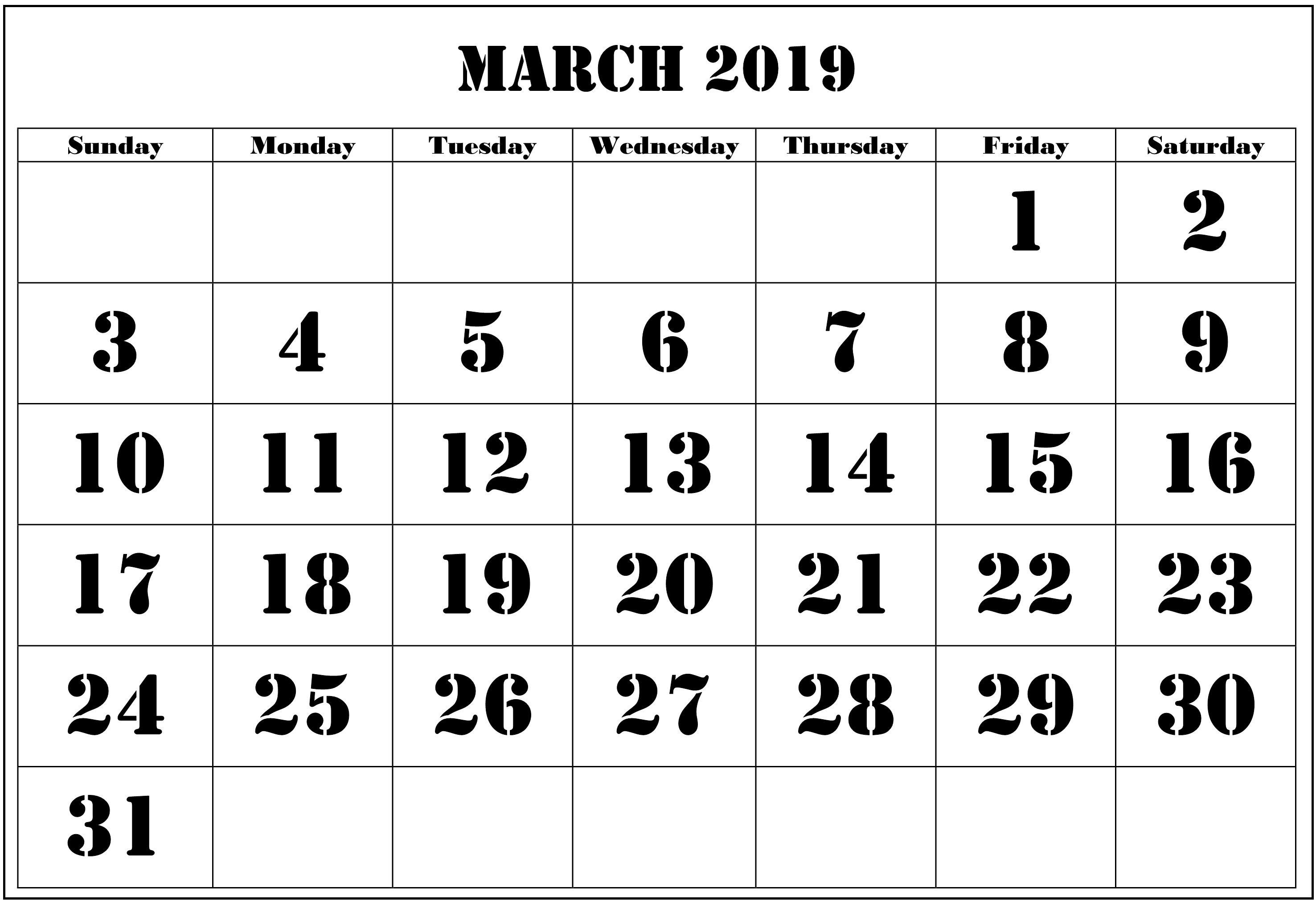 Blank Calendar March 2019 - Free August 2019 Calendar Printable March 8 2019 Calendar