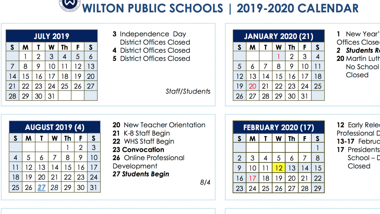 Board Of Education Approves 2019-2020 And 2020-2021 School Year Chase 5 Calendar 2019