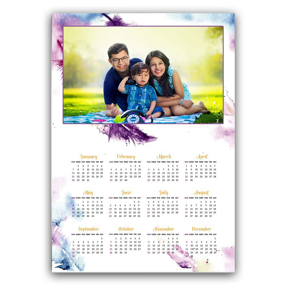 Buy Wall Hangable Personalized 2019 Wall Calendar @ Gondget Calendar 2019 Buy