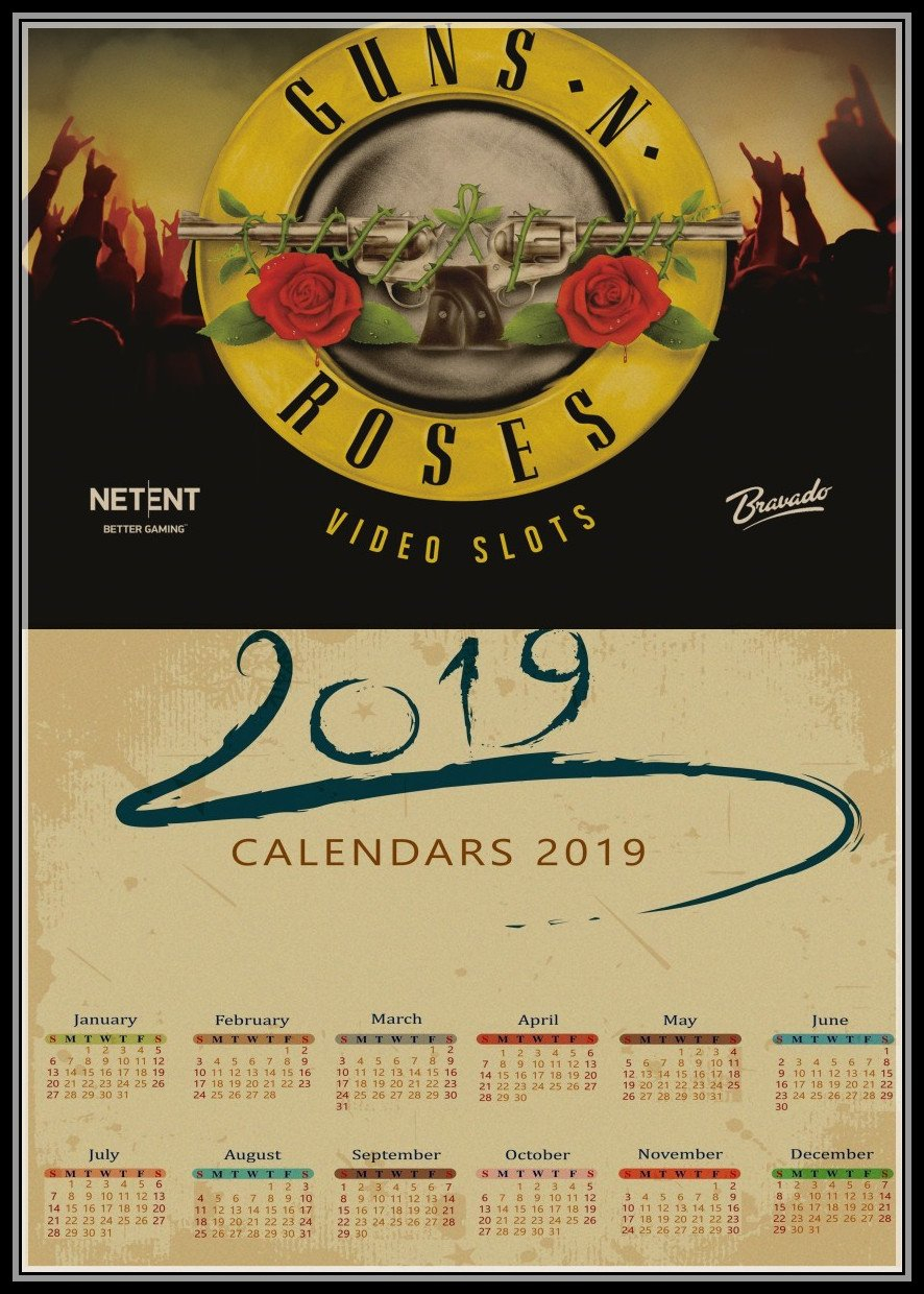 Buy Wallpaper Calendar And Get Free Shipping On Aliexpress Guns N Roses Calendar 2019