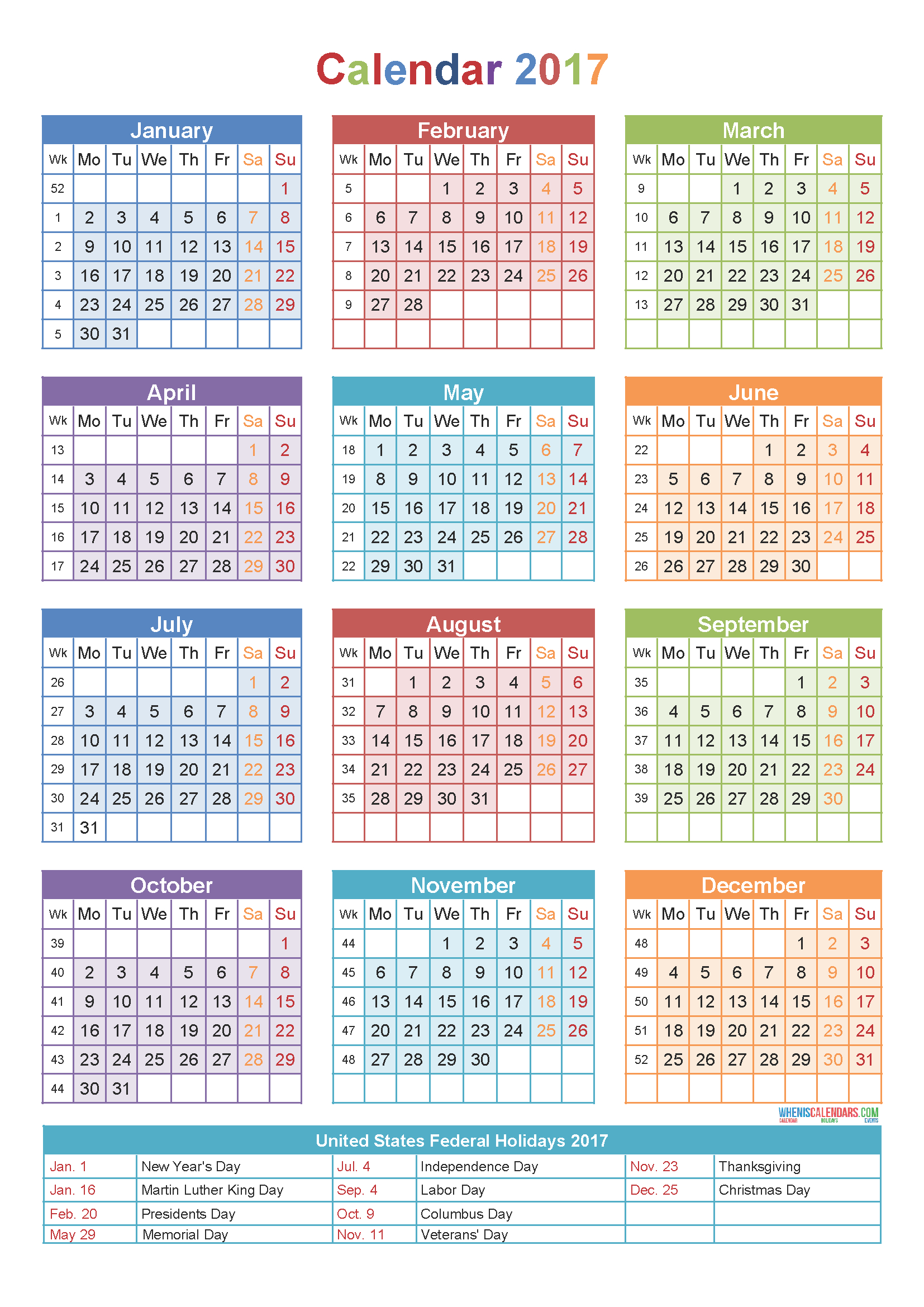 Calendar 2017Week Number | Holidays | Yearly Calendar Template Calendar Week 40 2019