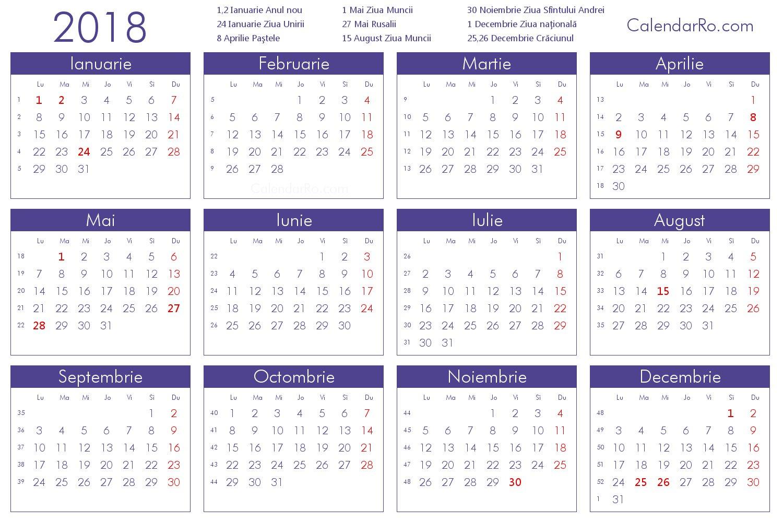 Calendar 2018 Romana | Calendar Template 2019 Calendar 2019 Romana