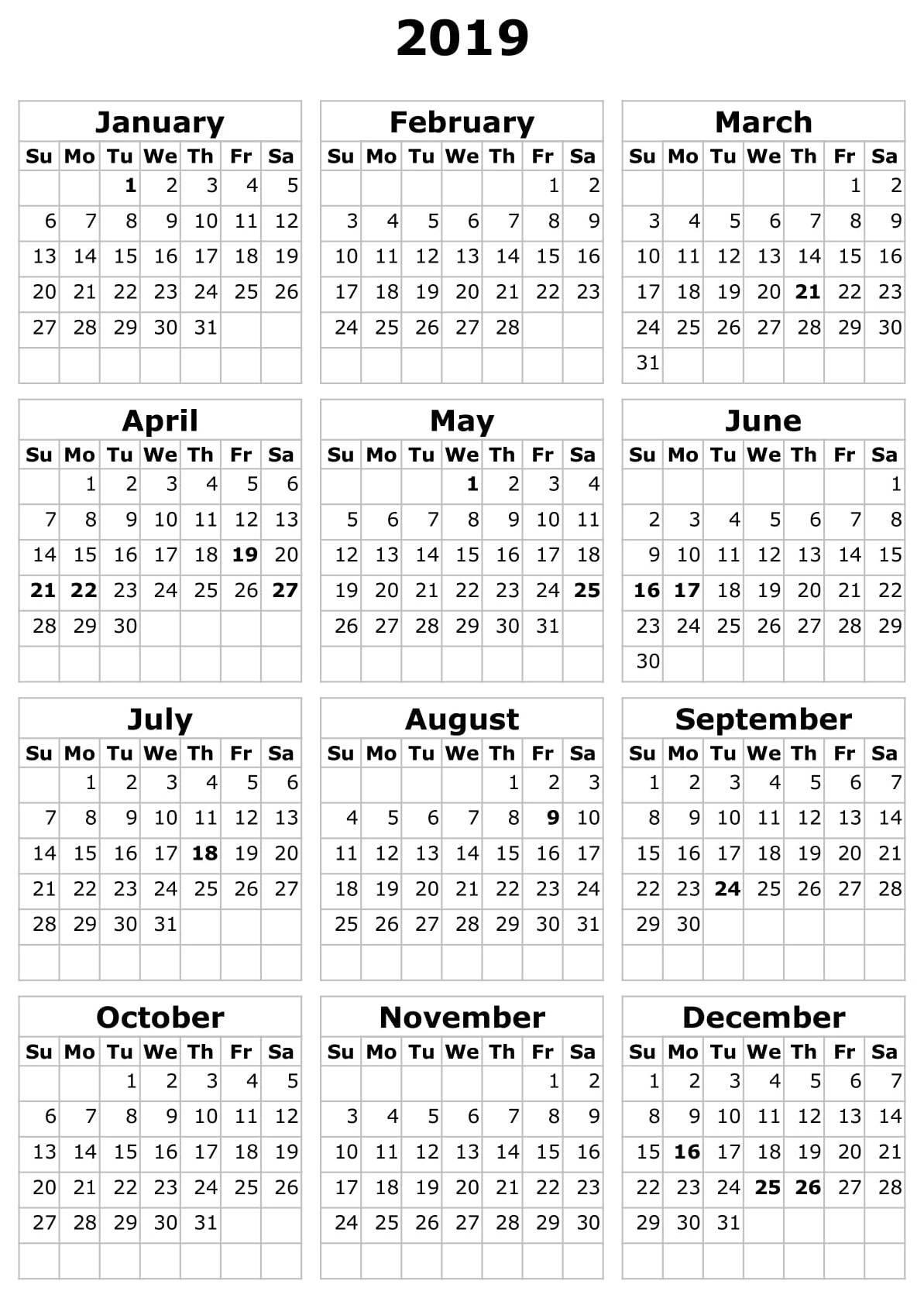 Calendar 2019 South Africa Excel – Free Calendar Templates Calendar 2019 Excel South Africa