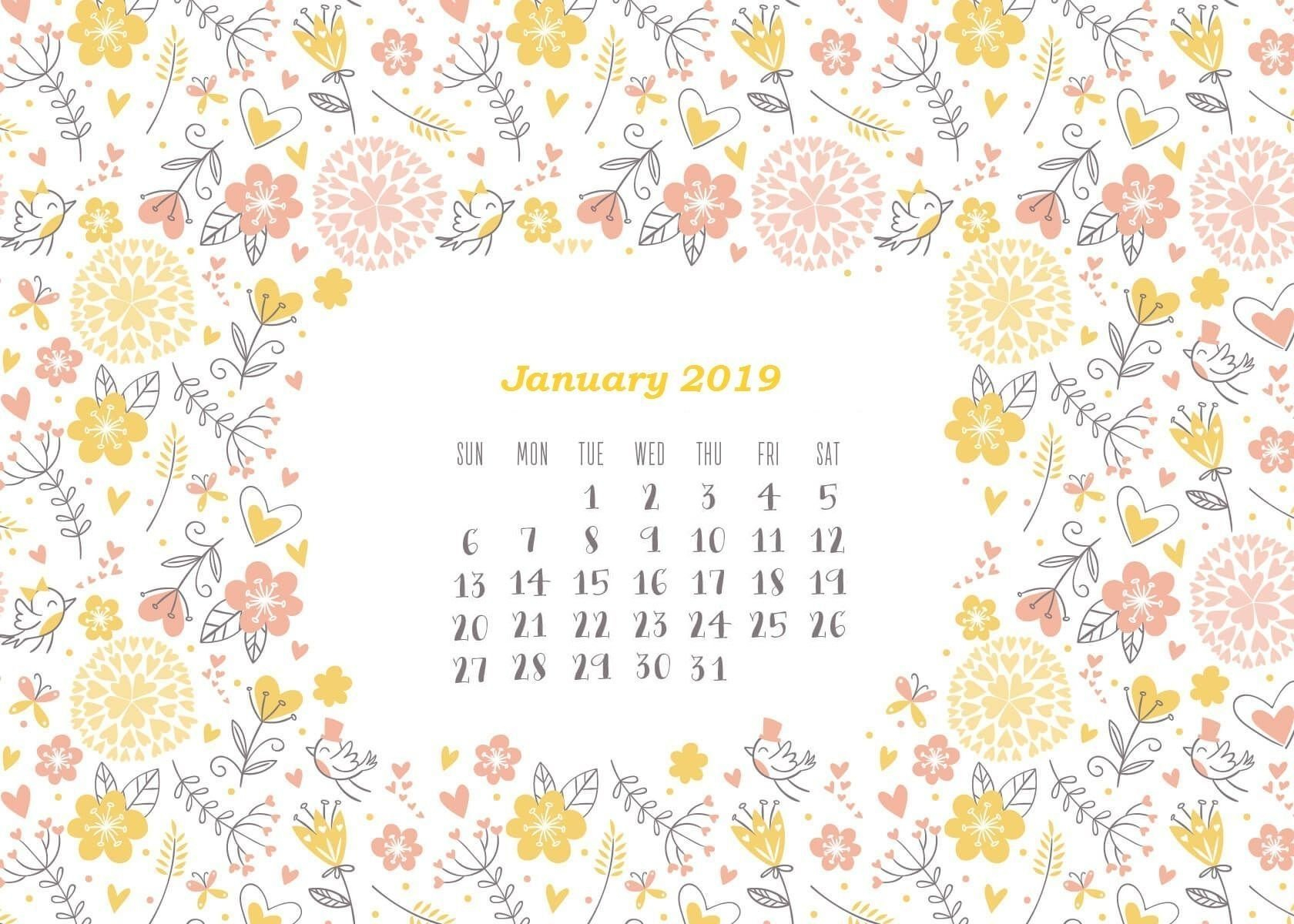 Calendar 2019 Wallpapers - Wallpaper Cave Calendar 2019 Wallpaper