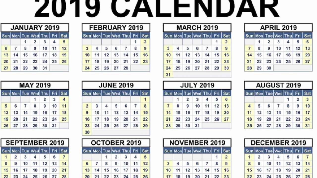 Calendar 2019. Zile Libere În 2019. Ce Sărbători Legale Vom Avea Calendar 2019 Zile Libere