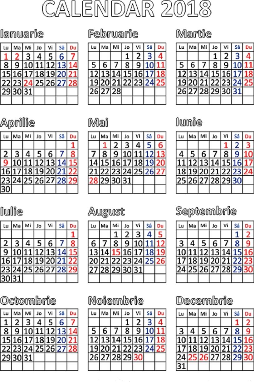 Calendar 2020 Cu Zile Libere – Get Your Calendar Printable Calendar 2019 Zile Libere