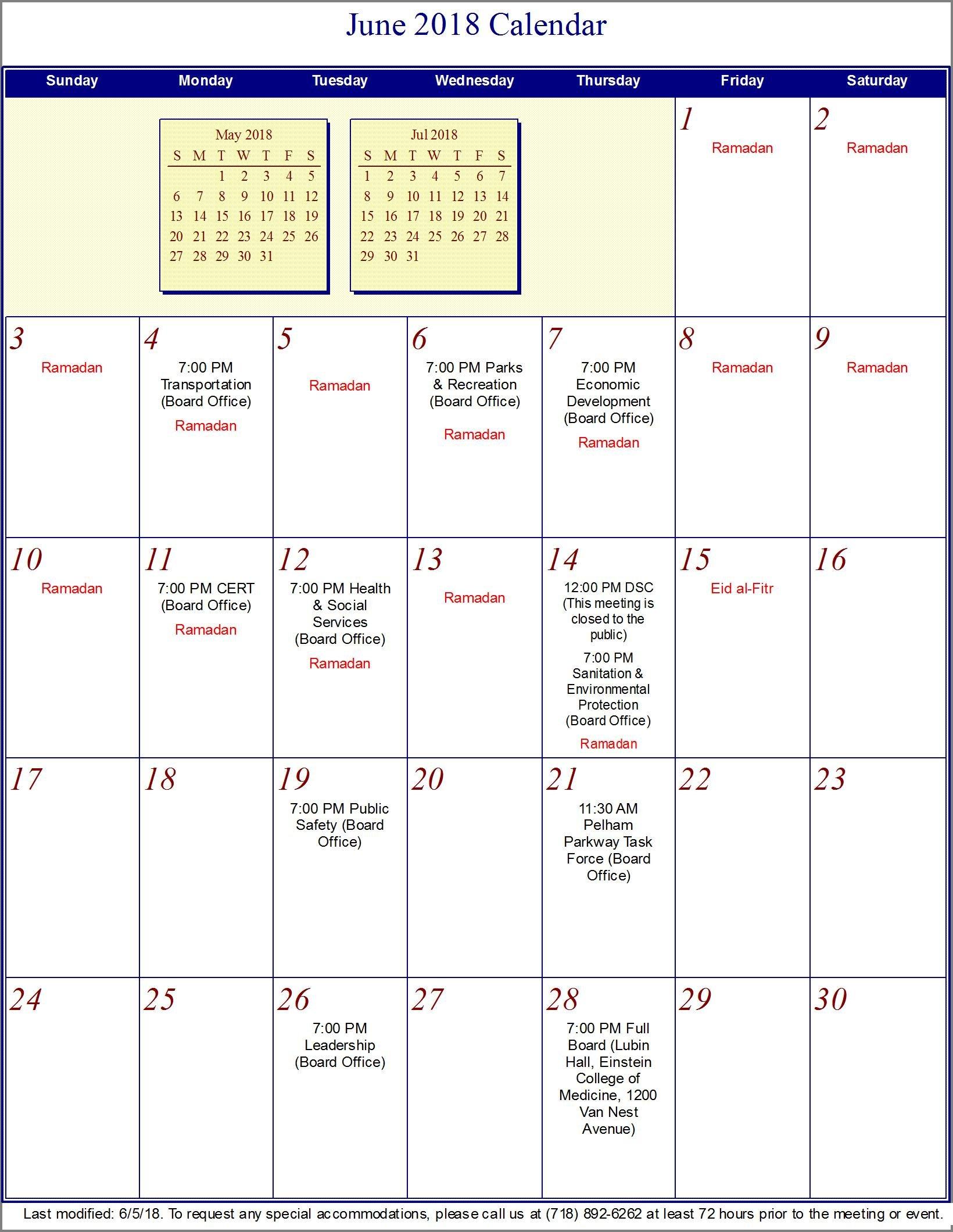 Calendar - Bronx Community Board 11 Calendar 2019 Nyc
