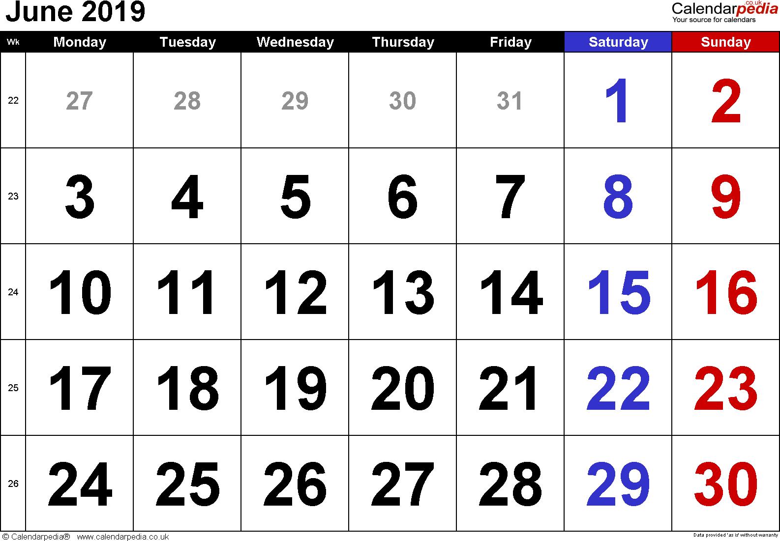 Calendar June 2019 Uk, Bank Holidays, Excel/pdf/word Templates June 2 2019 Calendar