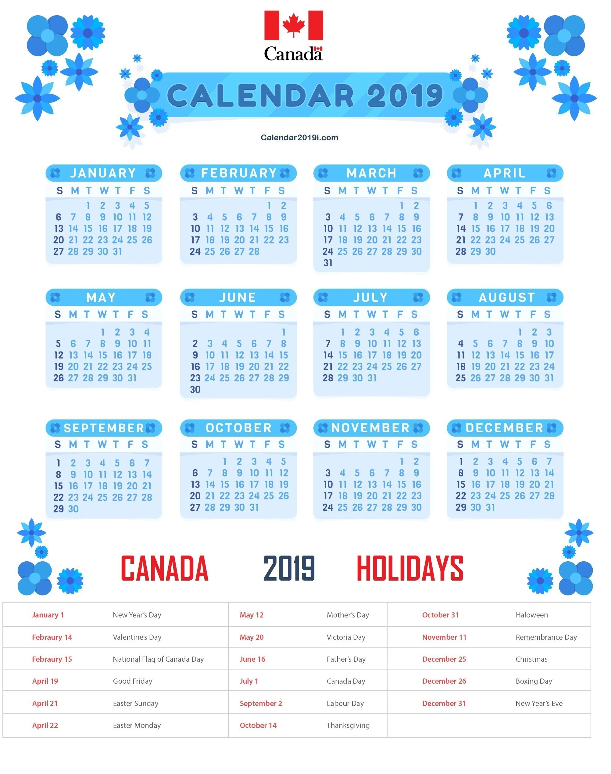 Calendar Of Holidays And Events • Printable Blank Calendar Template Calendar 2019 Events And Holidays