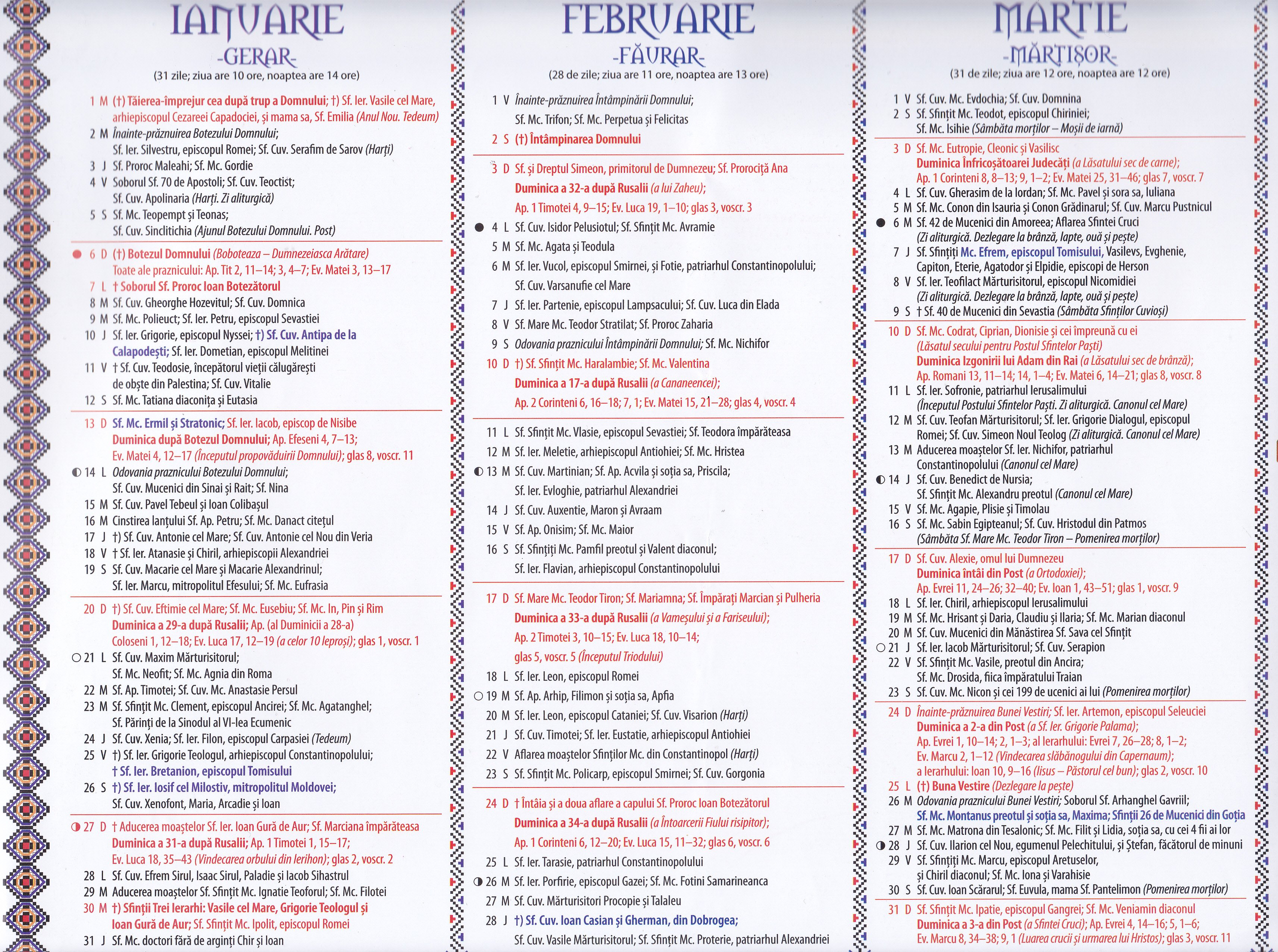 Calendar Ortodox - 2018 Calendar 2019 Ortodox