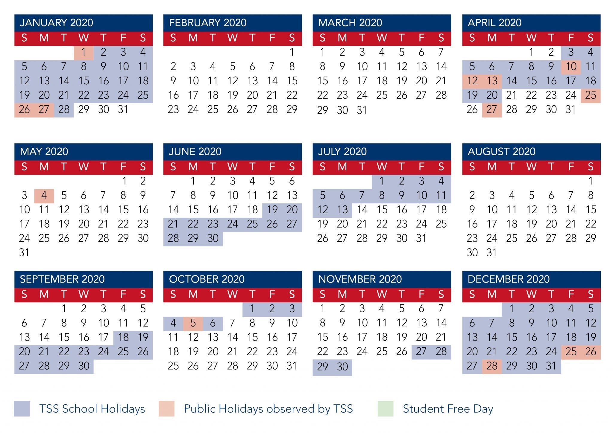 Calendar | The Southport School Term 1 Calendar 2019