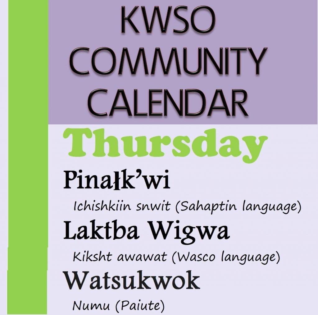 Calendar Thu., Feb. 7, 2019 - Kwso 91.9 Feb 7 2019 Calendar