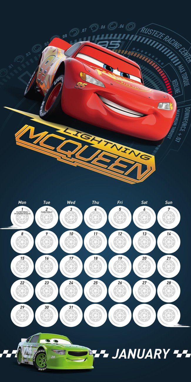 Cars 3 - Calendars 2020 On Ukposters/ukposters Cars 3 Calendar 2019