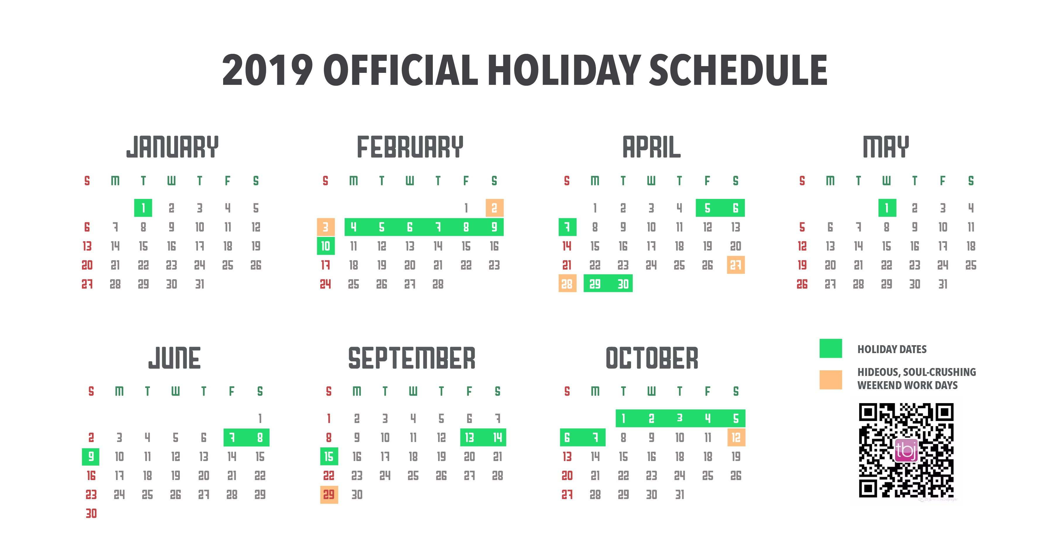 China's Official 2019 Holiday Calendar Finally Announced! | The Calendar Of 2019 With Holidays