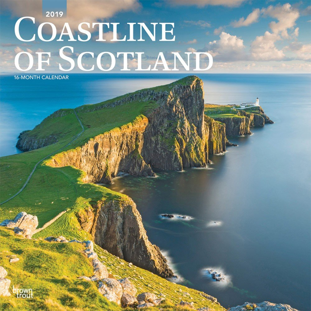 Coastline Of Scotland 2019 12 X 12 Inch Monthly Square Wall Calendar Calendar 2019 Scotland