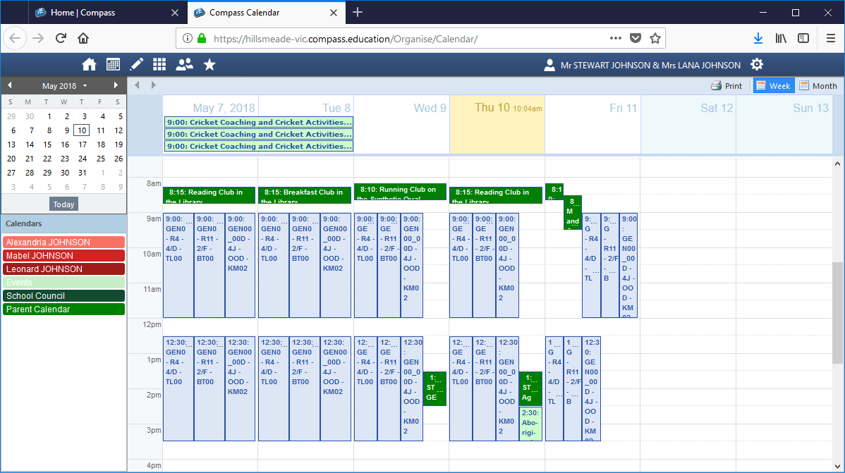 Compass Tips #4: School Calendar – Hillsmeade Primary School 4J Calendar 2019