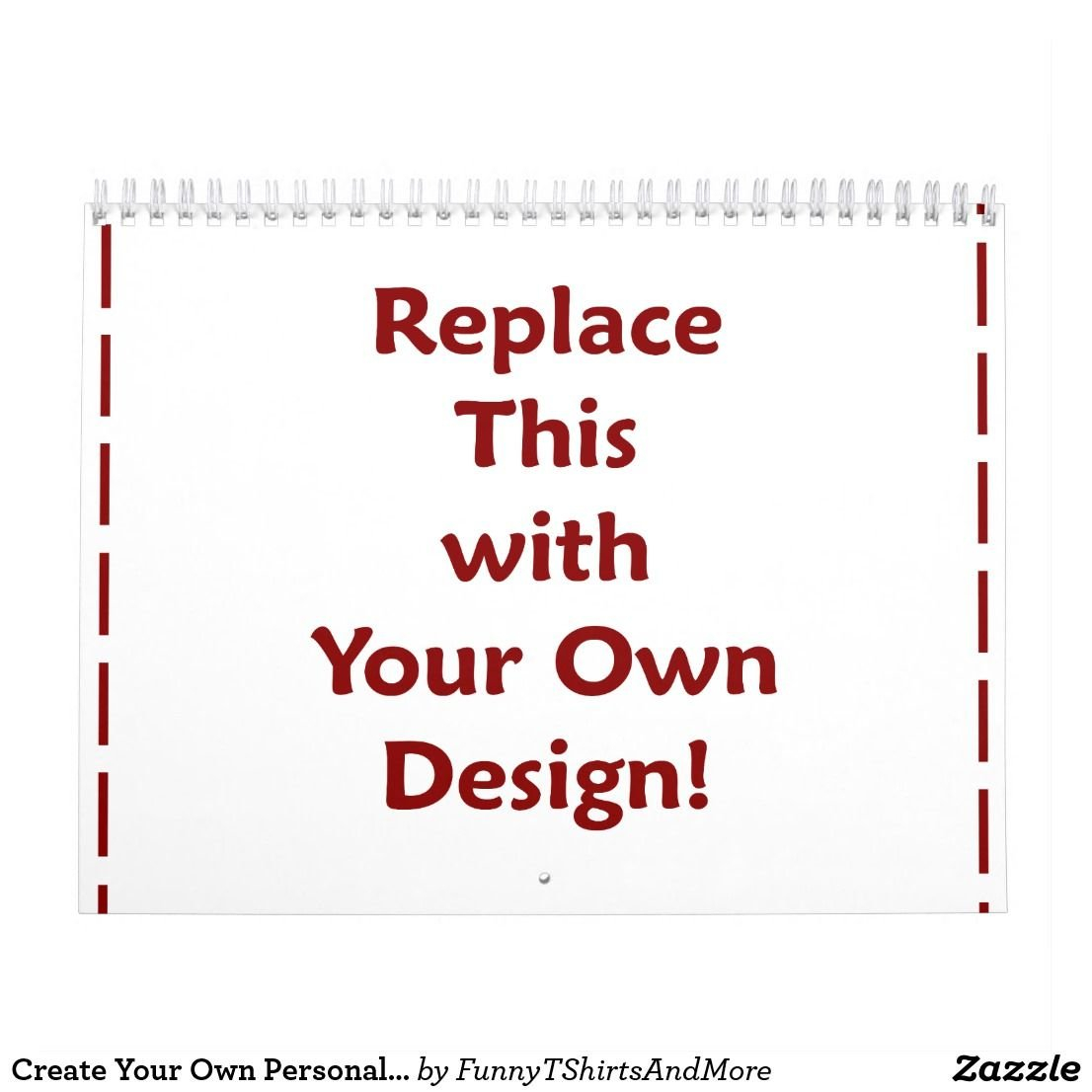 Create Your Own Personalized Custom 2019 Diy Calendar | Zazzle Calendar 2019 Create