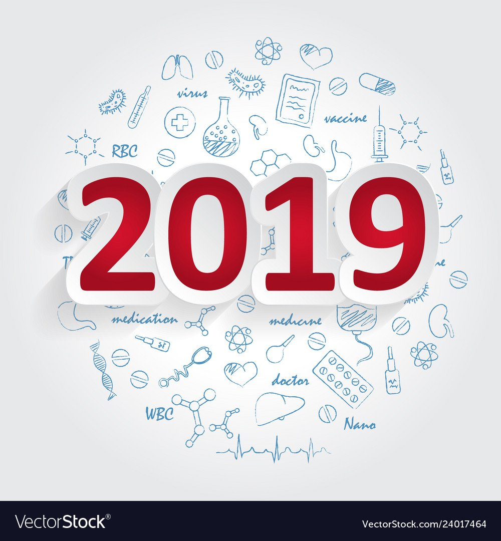 Creative Design Ideas Concept 2019 Calendar Cover Vector Image Calendar 2019 Cover