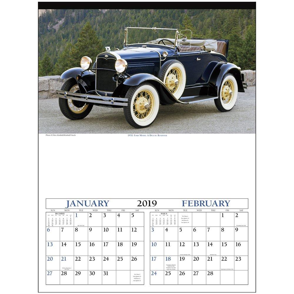 Custom Antique Cars Wall Calendars | X11496 - Discountmugs Calendar 2019 Cars