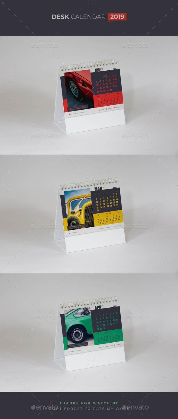 قالب التقويم للانديزاين Indesign Templates | 544 | Calendar 2019 544 Calendar 2019